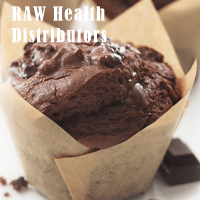Raw health choc muffin