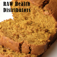 Raw health pumpkin bread