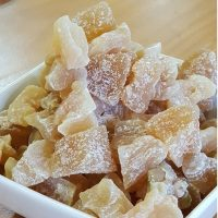 Dried ginger cubes