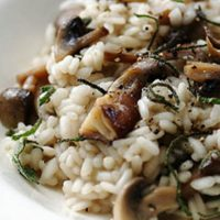 mushroom risotto with rice