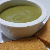 Broccilli soup spelt toast