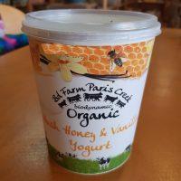 Honey and vanilla Paris Creek yogurt