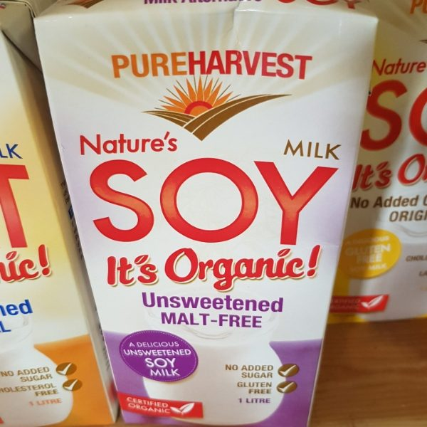 Pure Harvest unsweetened Soy Milk