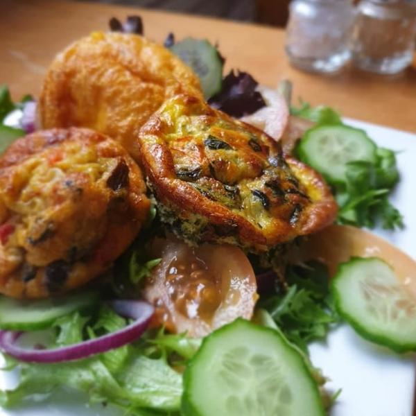 Frittatas with salad