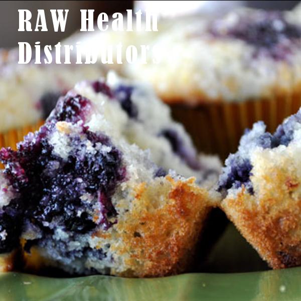 Raw health blueberry muffin