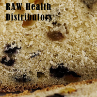 Raw health ricotta fruit loaf