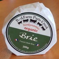 Brie cheese Paris Creek